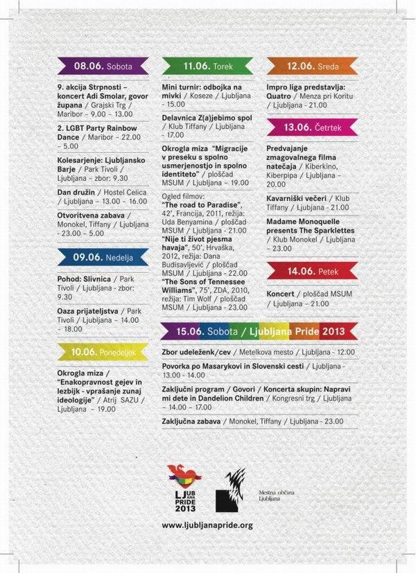 Zadnja stran: Program paradnega tedna 2013