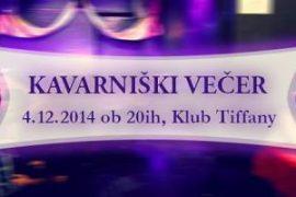 Kavarniski vecer - 4. 12. 2014