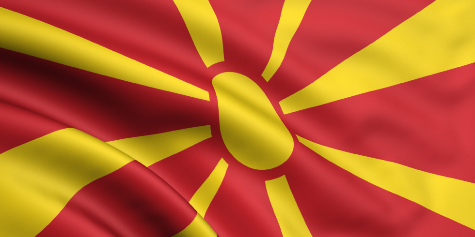 MACEDONIA waving flag by mak110