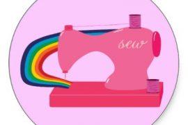 sewing rainbows sticker