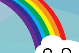 unicorn pooping rainbow sq